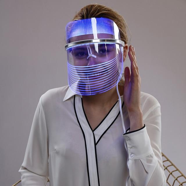 Led פנים מסכת טיפול עור התחדשות נגד הזדקנות פנים מסכת יופי סלון ביתי יופי Led טיפול מכונת לאישה איש
