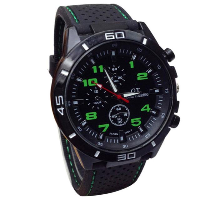 2018 Quartz Watch Men Business&Casual Military Watches Sport Wristwatch Silicone