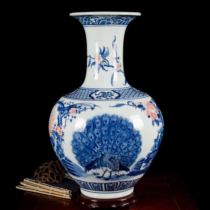 Jingdezhen Ceramic Antique Blue And White Porcelain Large