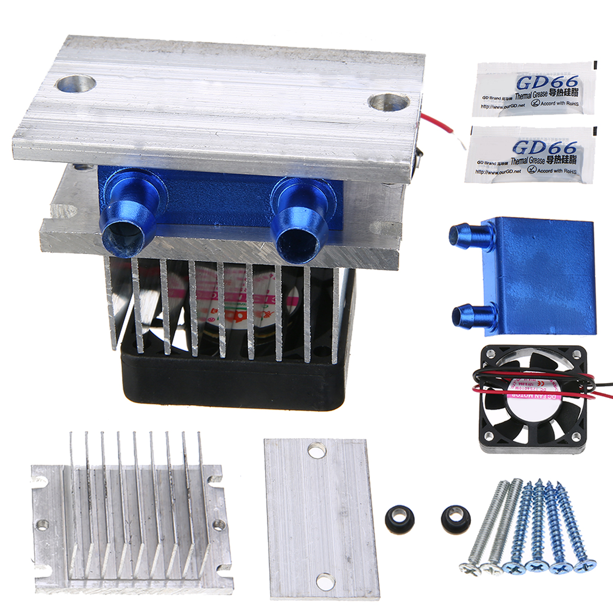 Practical Thermoelectric Peltier Semiconductor Cooler Refrigeration Cooling System Heatsink Kit Fan 12V