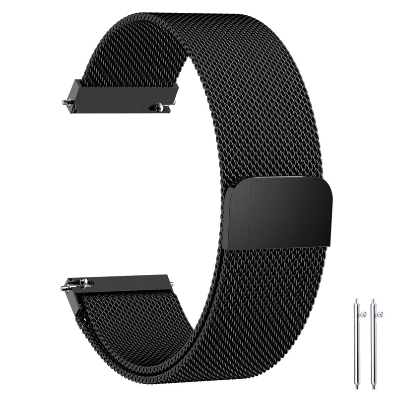 Quick Release Watch Bands Width 14m/16mm/18mm/20mm/22mm/23mm Magnetic Closure Milanese Loop Stainless Steel Watch Wrist Strap