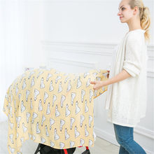 Muslin Wrap Newborn Infant Swaddle Blanket Baby Photography Wrap Unicorn Baby Blanket Mantas De Bebes Girls Stroller Cover Mat(China)
