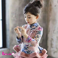 winter autumn  child clothing children clothes necklace  girl tops thickness jacket baby Princess flannel lining outwear coat