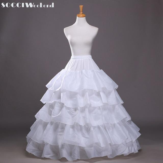 Petticoat Tulle Wedding Ball Gown Black White Under Skirt Crinoline Long petticoats Skirt Bridal Accessories 2017