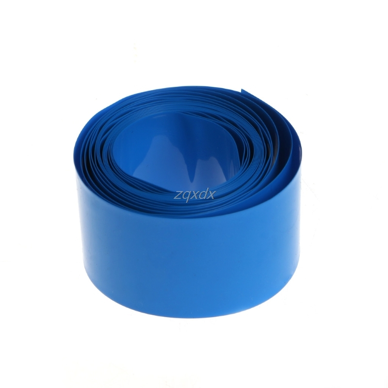 2m PVC Heat Shrink Tube Wrap Kit For 18650 18500 Battery Flat Round 18.5mm Hot July Dropship