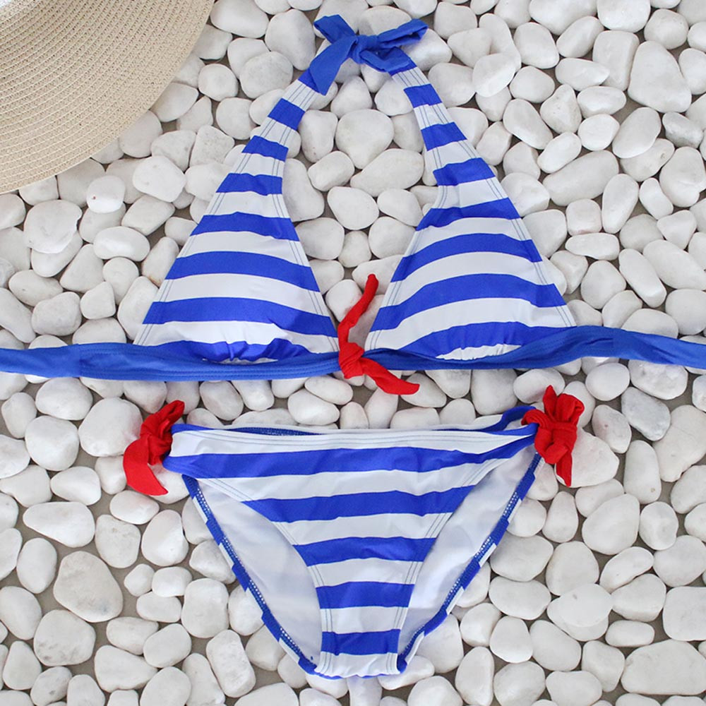 Women's Swimming Suit Sexy Bikini Swimsuit Women Bikini Set Striped Swimsuit Swimwear Beachwear Bathing Suit