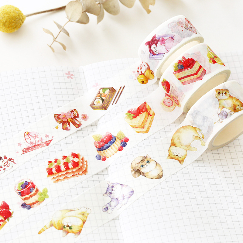 Sweet Strawberry Washi Tape Masking Decorative Tapes DIY Scrapbooking Sticker Label Tape Stationery