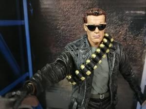 Image 3 - NECA Terminator 2 Judgment Day T 800 Arnold Schwarzenegger PVC Action Figure Model Toy Christmas Gift