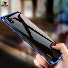 Keajor Case For Xiaomi Redmi 7A Soft Silicone Plating Back Cover Luxury Transparent Clear Bumper On 7 A Cases