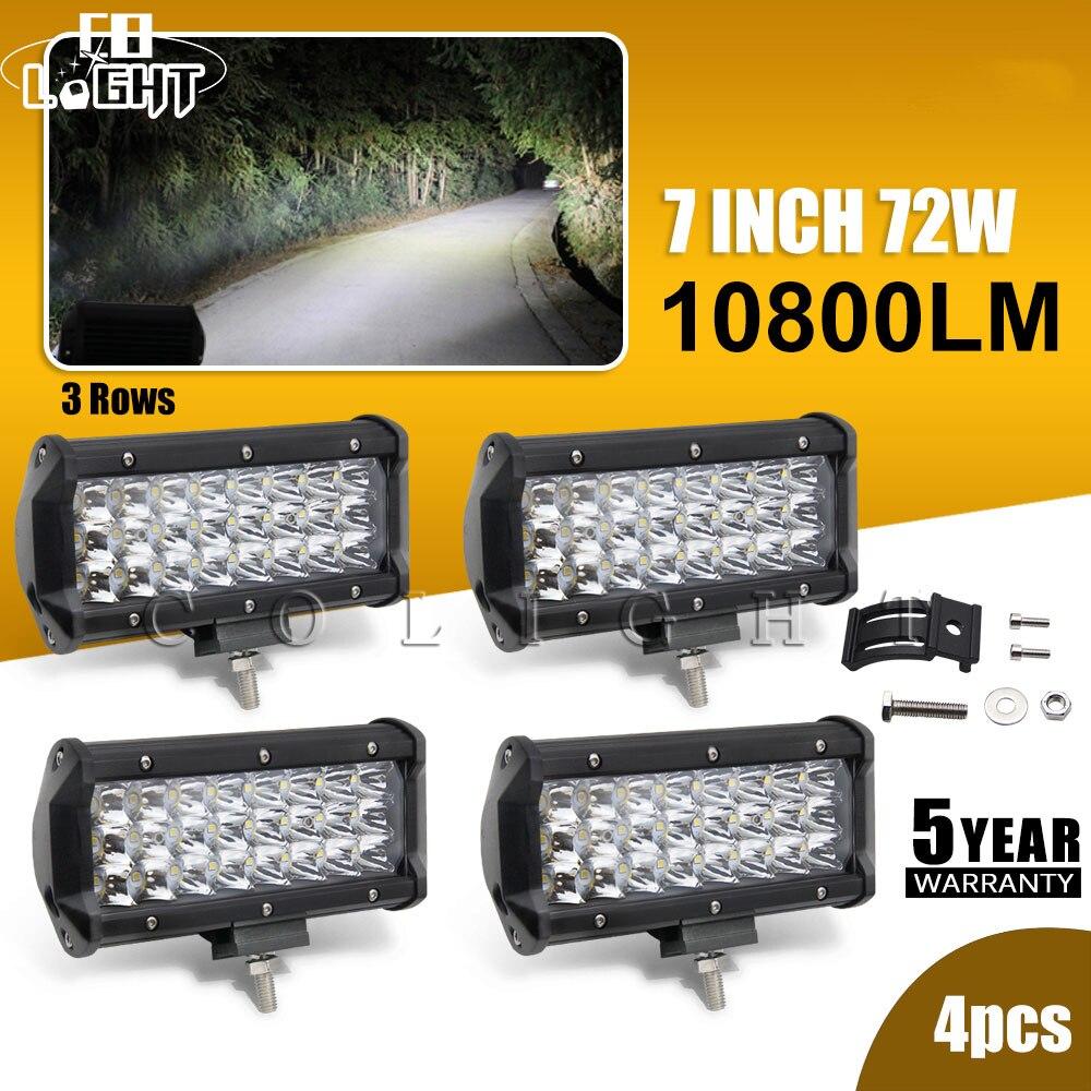 Со Светодиодные лампы 72 Вт 7 дневные ходовые огни для автомобиля Камаз Автомобильные фары автомобиля Сид 7 дюймов 3D-проектор Сид 7 дюймов