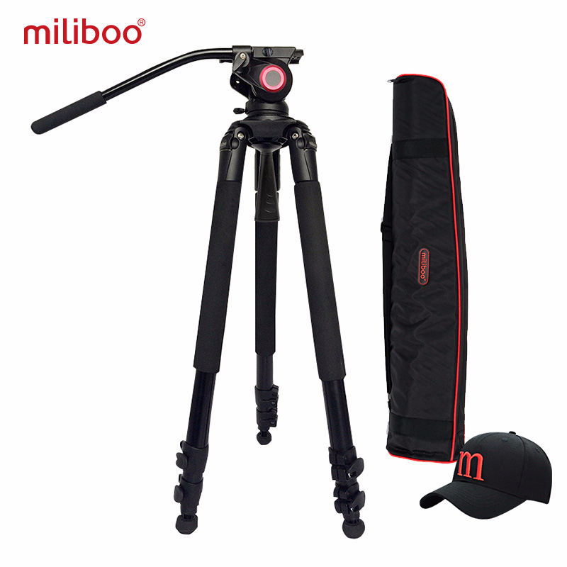 miliboo MTT702A Portable Aluminium tripod for Professional Camcorder Video Digital Camera DSLR Tripod Stand with Hydraulic