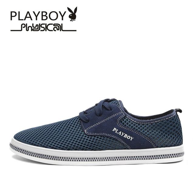db62b26720b PLAYBOY Brand 2017 Mesh Breathable Men Shoes