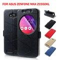 Для Asus Zenfone Max Кожаная Сумка Обложка Смарт Стойки Кожи Защитный Чехол для Asus Zenfone Max ZC550KL 5.5-дюймовый
