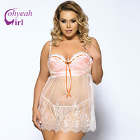 RU80046 Transparent Style Sexy Lingerie New Arrival Ropa Intima Sexy Mujer Plus Size Fashion White Lace