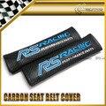 Стайлинга автомобилей 2 шт./пара Для RS Гонки Синий Углерода Ремень безопасности Обложка Универсальный JDM