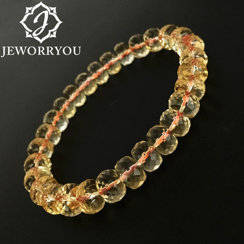6x9mm Crystal Citrine Bracelet Women Jewelry Bracelets Natural Stone Beads For Jewelry Making Citrine Women Bracelets