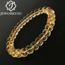 Женский браслет из кристалла цитрина 6x9 мм браслеты натурального