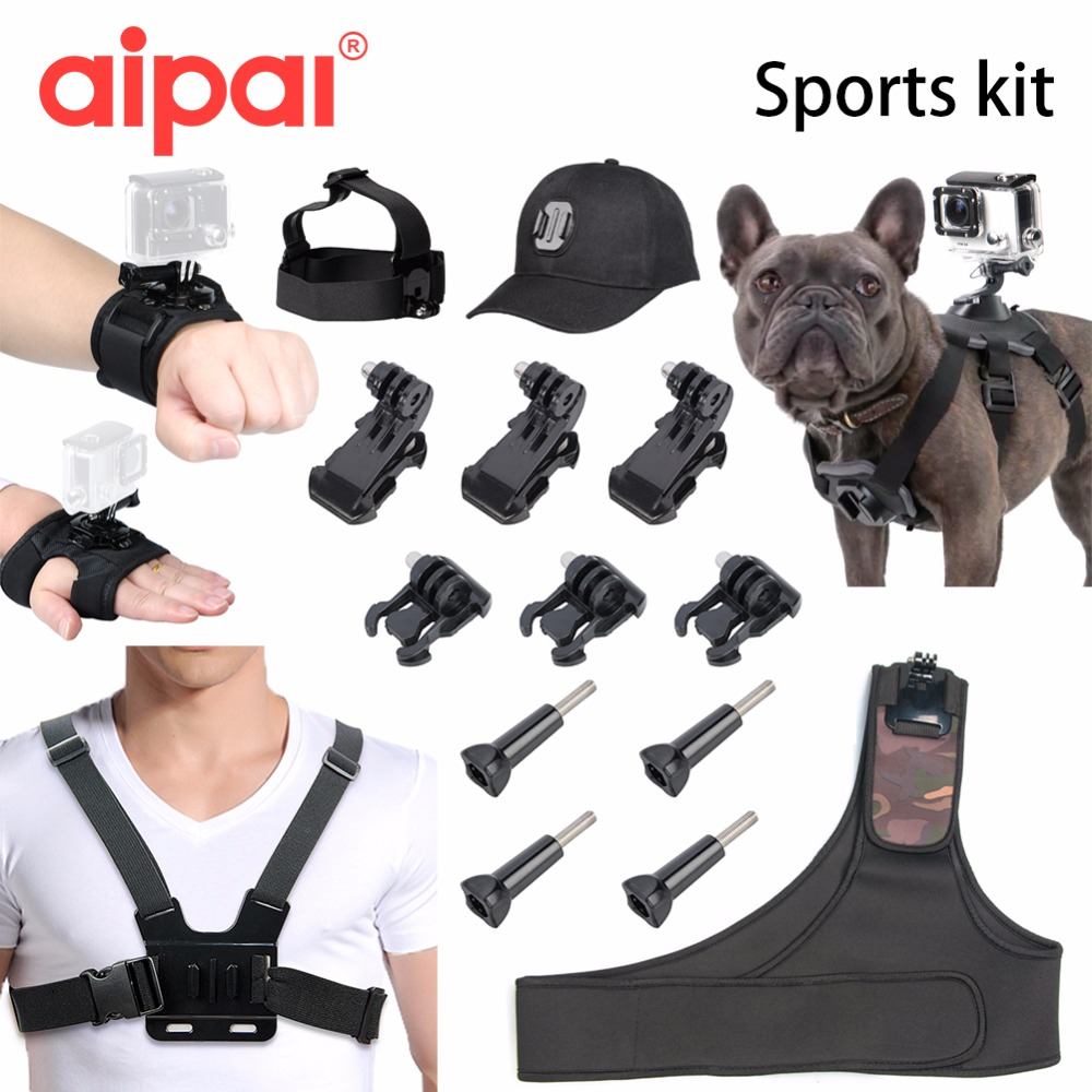 action camera accessories kit for Gopro mount set hero 5 4 sjcam sj5000 sj4000 xiaomi yi camera chest strap Dog strap Adapter gopro accessories head belt strap mount adjustable elastic for gopro hero 4 3 2 1 sjcam xiaomi yi camera vp202 free shipping