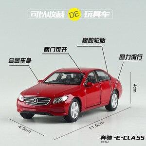 Image 5 - Gratis Verzending 1:36 Benz E Klasse Legering Auto Speelgoed Model Met Pull Back Functie Originele Doos Simulatie Model Auto speelgoed Voor Kinderen Gift