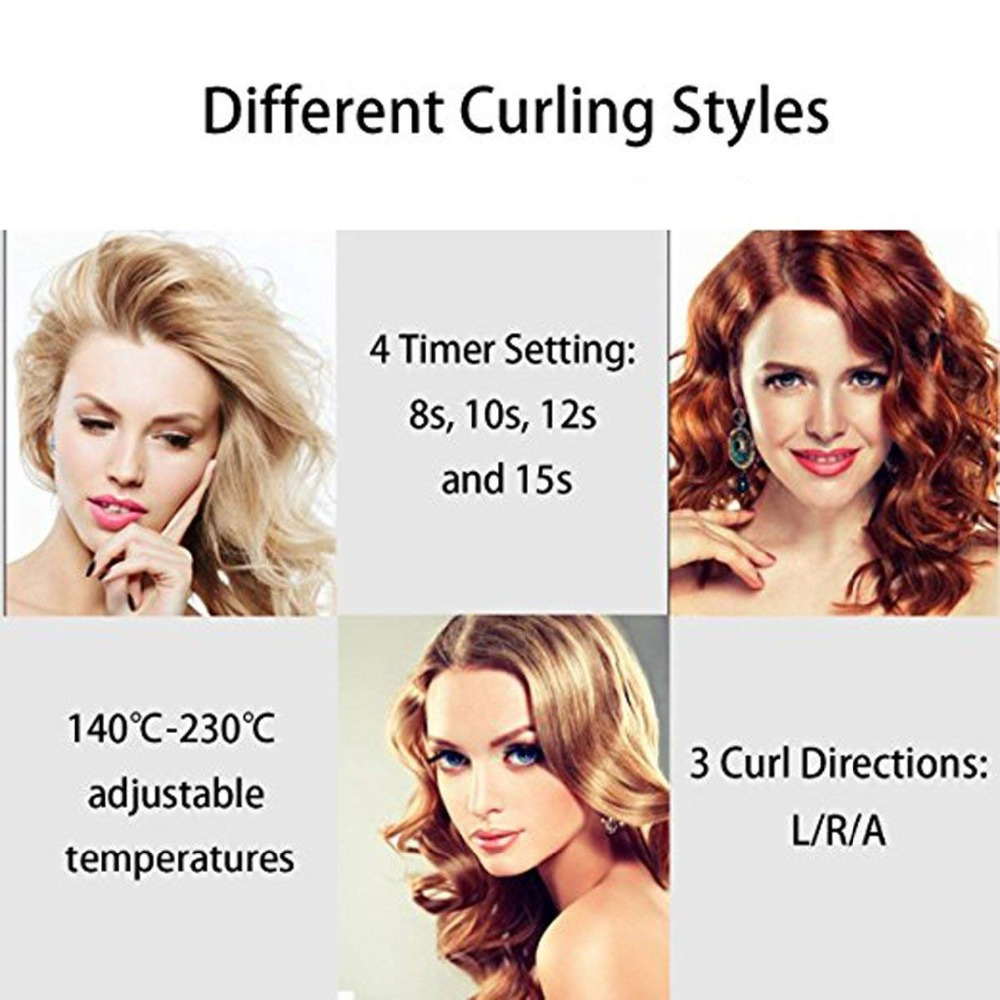 New LCD Anti-Scalding Professional Automatic Hair Curler Styling Tools Curlers Curling Wand Ceramic Heating Care Wave Curl Iron
