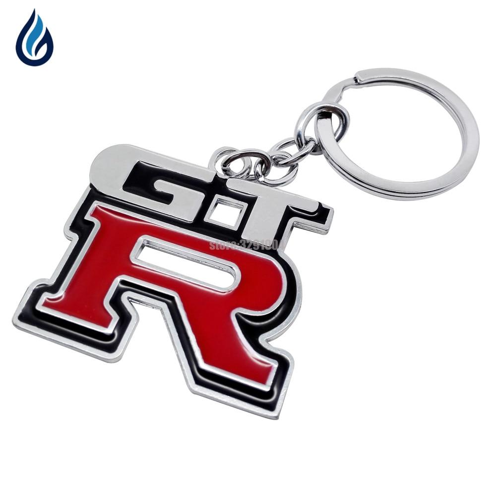 Metal Car Logo key ring keyring keychain key chain for nissan GTR 350z nv200 versa np300 x-trail juke Nismo qashqai Car Styling