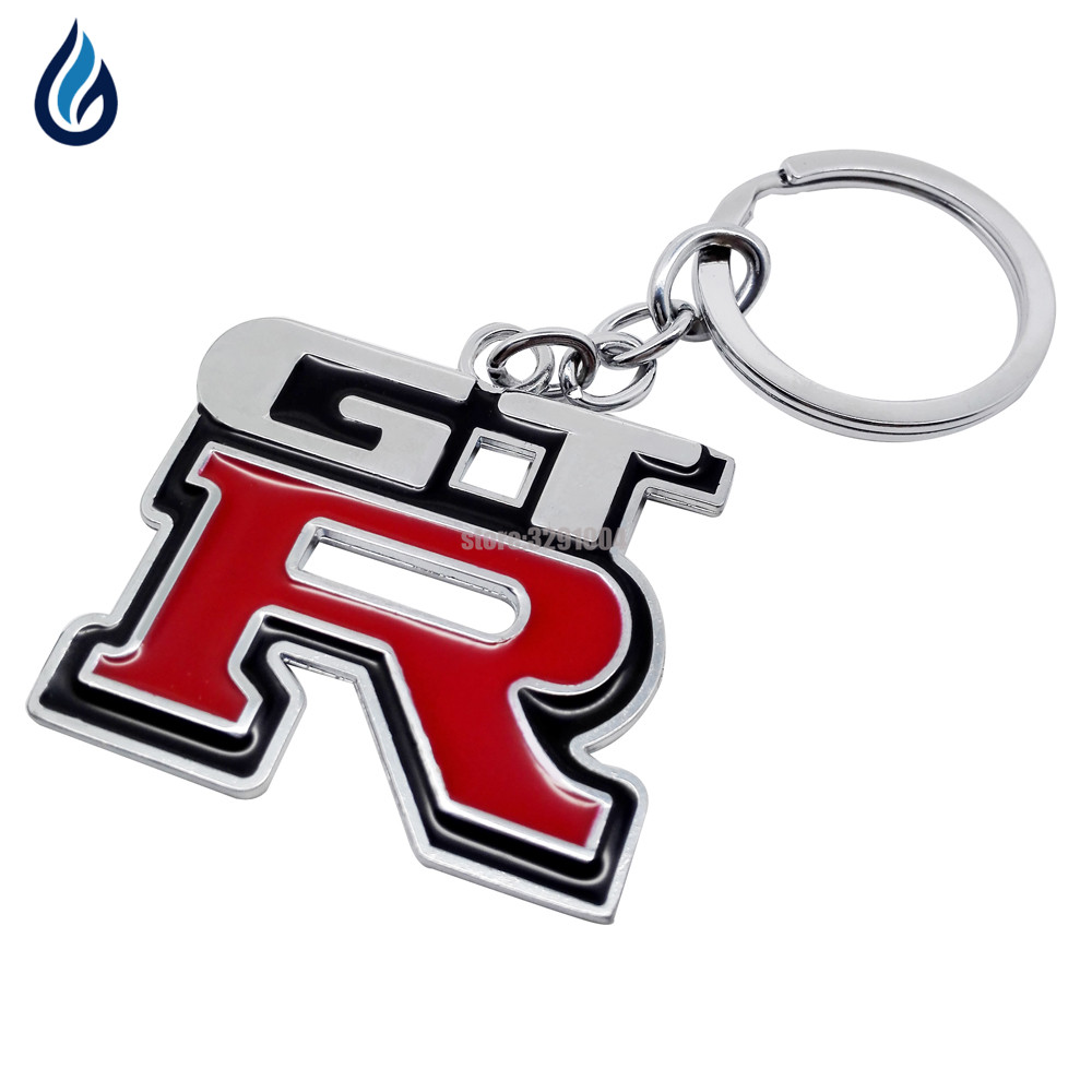 1pcs Metal MG Car Logo Keychain Keyring Key Chain Auto Key Ring Holder for Mg Scania Styling Accessorie Red