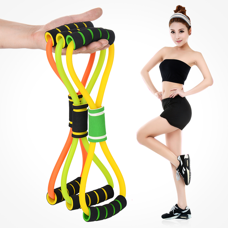 Aliexpress Com Elastic Rubber Bands Fitness 8 Shaped Chest Developed Training Power Resistance Band Workout Exercise