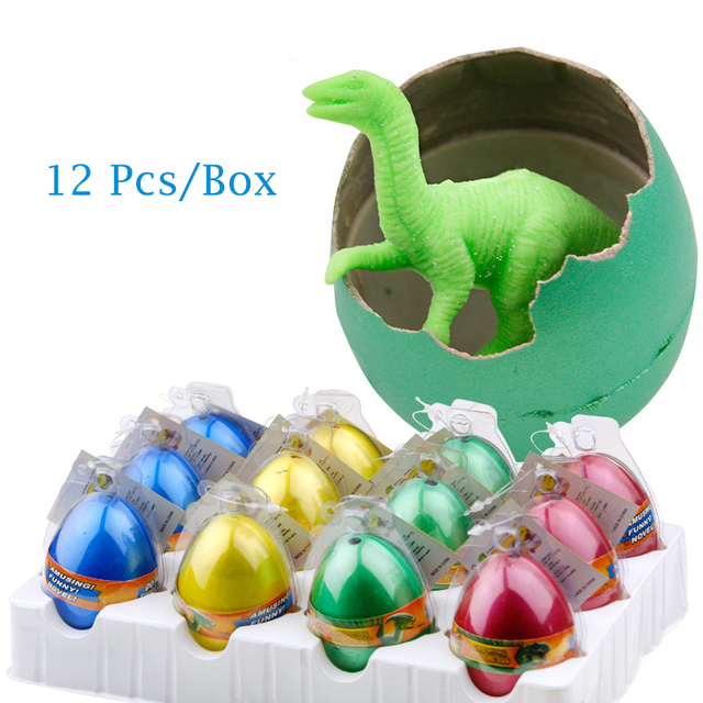 12 Pcs/Box Cute Magic Inflation Growing Dino Egg Hatching Growing Dinosaur Eggs Toy Water Children Kids Classic Toy For Boys