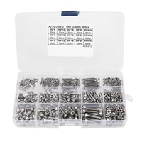 Hot Sell 480pcs Stainless Steel Hex Socket M2 M3 M4 Head Cap Screws Nut Assortment Kit Set For Hardware Accessories
