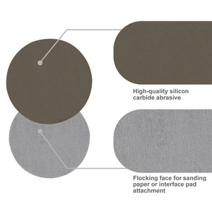 Image 4 - 40 шт. 5 дюймовая наждачная бумага для сухой и влажной шлифовки от 80 до 7000, разные зерна + 1 шт. 5 дюймовый шлифовальный блок для отделки деревянной мебели, шлифовки металла
