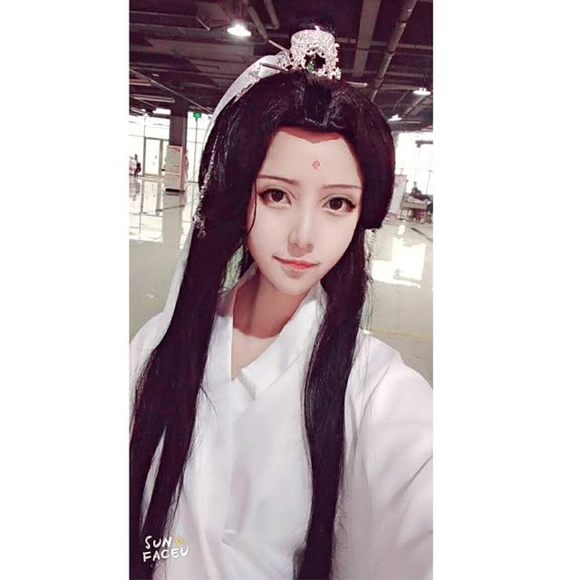 Парики для косплея Xie lian Tian guan ci fu, черные длинные парики для косплея, парик из волос Hua cheng