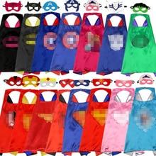 70*70 см, Детские Рождественские костюмы, косплей, 1 накидка+ 1 маска, Супер герои, двухсторонний детский наряд на день рождения, Хэллоуин