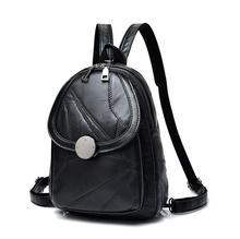 Рюкзак Женщины 2017 мини-рюкзаки для девочек мода рюкзак из овечьей кожи Bagpack заклепки рюкзак сумка