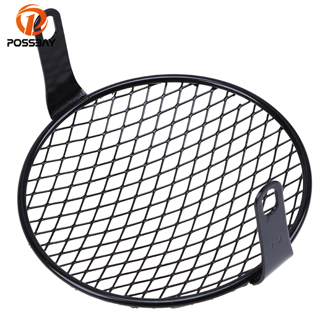 Possbay 6 3 Retro Motorcycle Headlights Grille Cover Guard Grilled