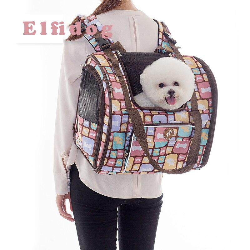 Luxury Canvas Dog Carrier Backpack Bag Shoulder Handbag Pet Little Medium Animal Travel Outdoor Transport Portable Tote Cat Good
