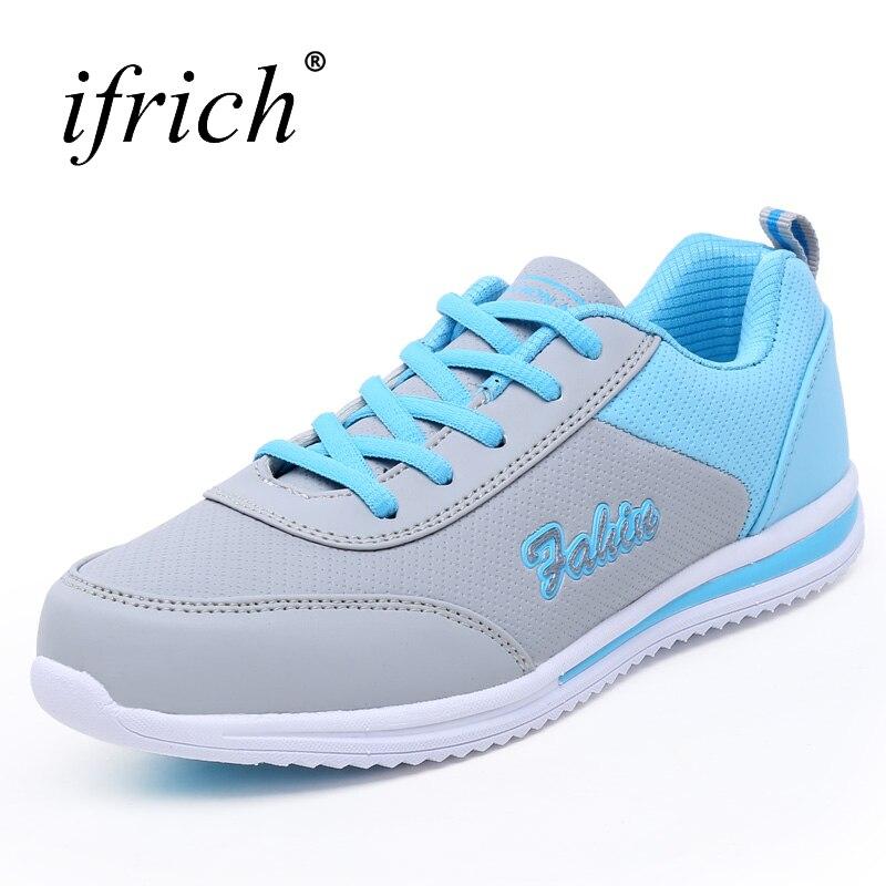 Ifrich Новое поступление Дешевые Спортивная обувь Для женщин различных Цвета Для женщин спортивные Спортивная обувь Кружево Up Joggers Обувь для д... ...