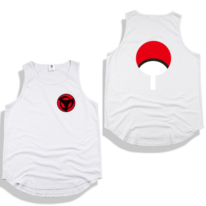 2018 New Naruto tank top Hip hop Print sleeveless shirt High Street Summer Tops Tees Round collar sleeveless vest