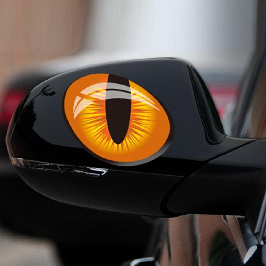 Funny 3D Cat Eyes Car Sticker Waterproof Body//Door//Fenders Decor Vinyl Decal New