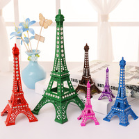 New Fashion Bronze Tone Alloy Paris Eiffel Tower Figurine Statue Vintage Home Decor