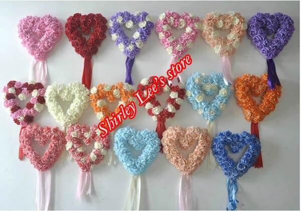 Totalement 18 couleurs pour la sélection!! Offre spéciale!!! (38 cm) coeurs en mousse Rose, décoration de mariage coeur suspendu