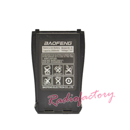Exclusively New Original Baofeng Accessories For UV-B5/UV-B6 Walkie Talkie Li-ion Baofeng Battery BL-B 7.4V 2000mAh