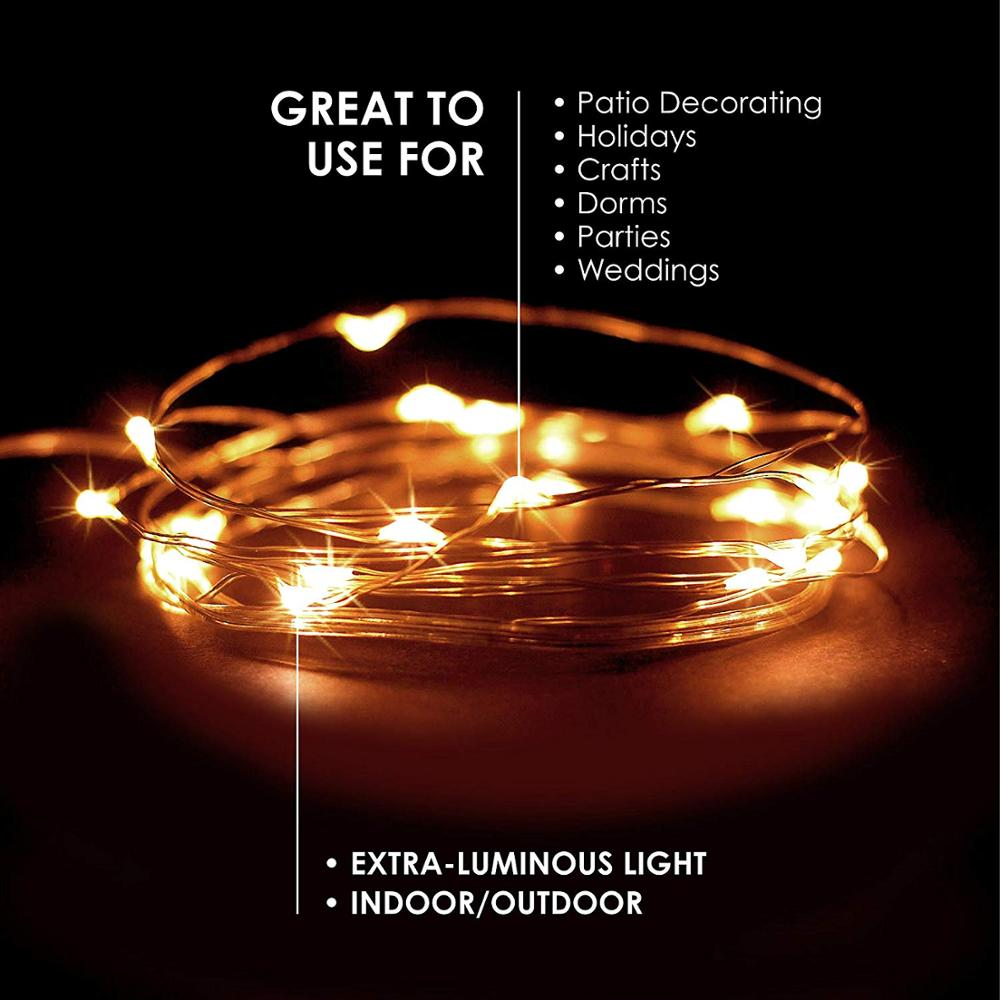 string light led garland 1m 2m 5m 10m USB battery powered outdoor Warm white/RGB festival wedding party decoration fairy light 6