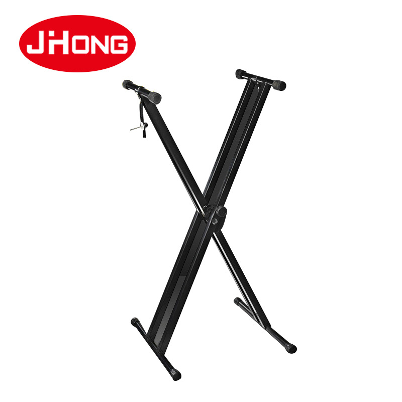 JH-042 Musical Instrument Accessories Advanced Double Tube Electronic Piano Frame X-shaped Guzheng Frame Foldable