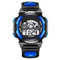 Orrison Children Watches 30M Waterproof LED Digital Watch Alarm Shock Resistant Back Light Boys Sport Watch