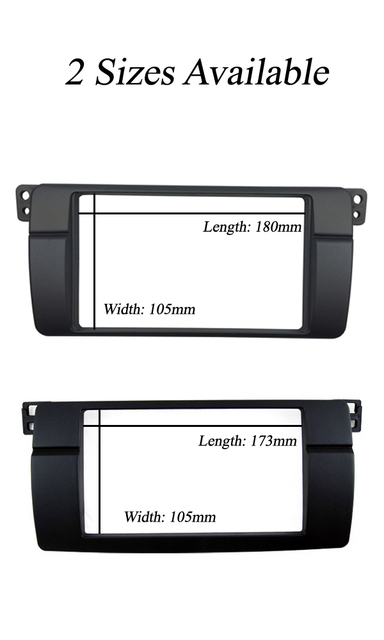Double Din Fascia for BMW 3 Series E46 1998-2005 Radio Dash Mount Trim Kit Frame ISO Wiring + Antenna Adapter