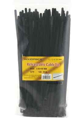 Attache de câble 6 pouces 50LBS | 100 pièces/paquet