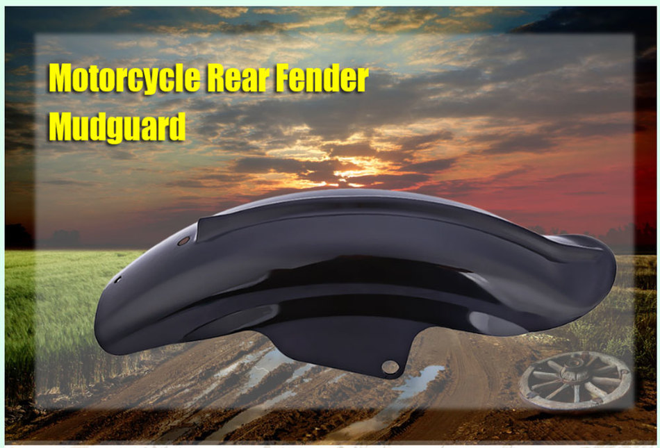 Motorcycle Rear Fender Mudguard for Harley New Black High Quality Motorcycle Rear Mudguard Fender Accessory For Harley frequency divider adapter for jh audio jh24 roxanne akr03 layla angie earphone pin 1pcs