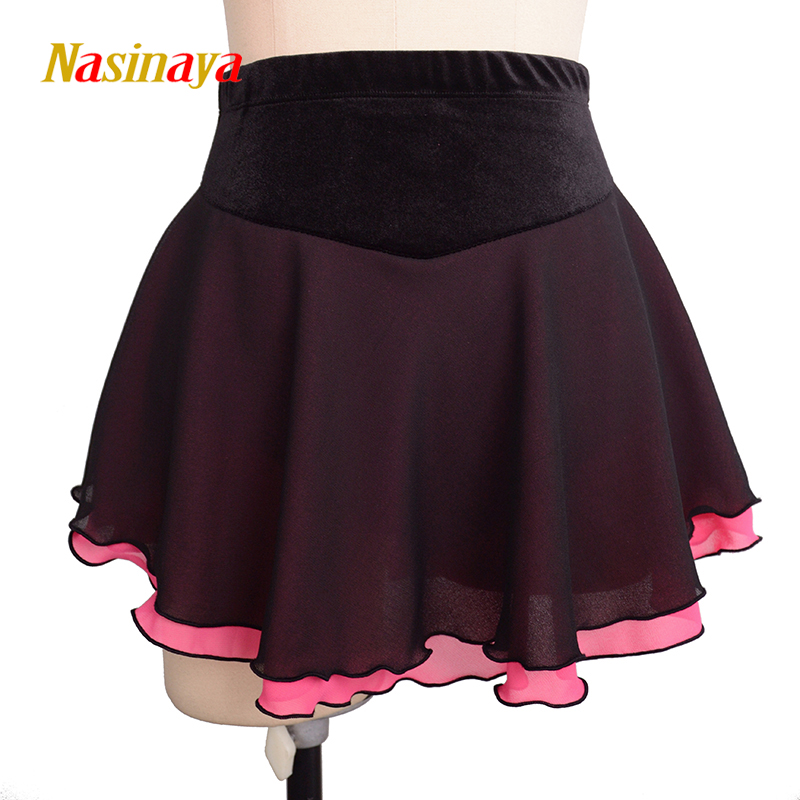 Nasinaya Figure Skating Short Skirt For Girl Kids Women Training Dress Customized Patinaje Costume Gymnastics Ice Skating 6