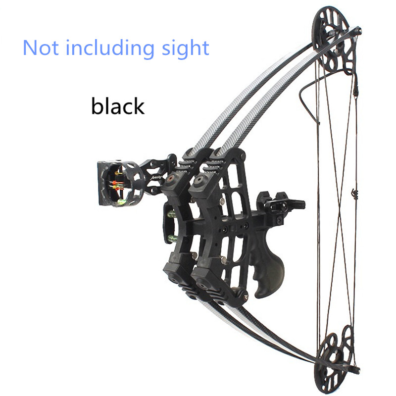 Black Fan Colored Triangle Bow New Hunting Bow M109 Camouflage Composite Bow Using Glass Fiber. Carbon Arrow.