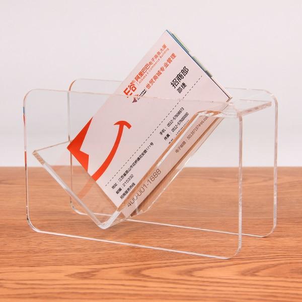 Fashion acrylic display stand plastic desktop business card holder fashion acrylic display stand plastic desktop business card holder desk shelf box two layerscard holder card colourmoves